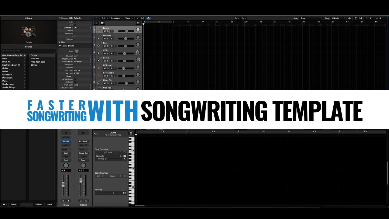 Songwriting template for faster songwriting