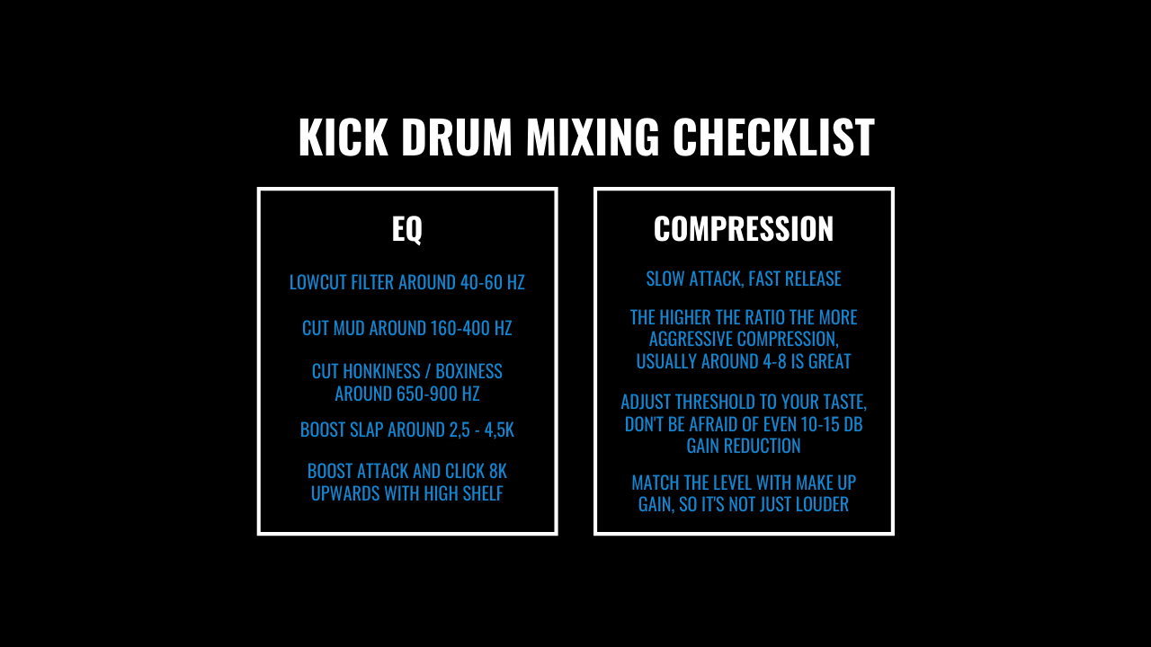 Kick drum checklist