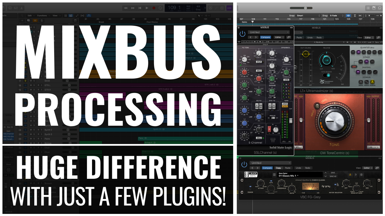 Mixbus Processing Huge difference with just a few plugins