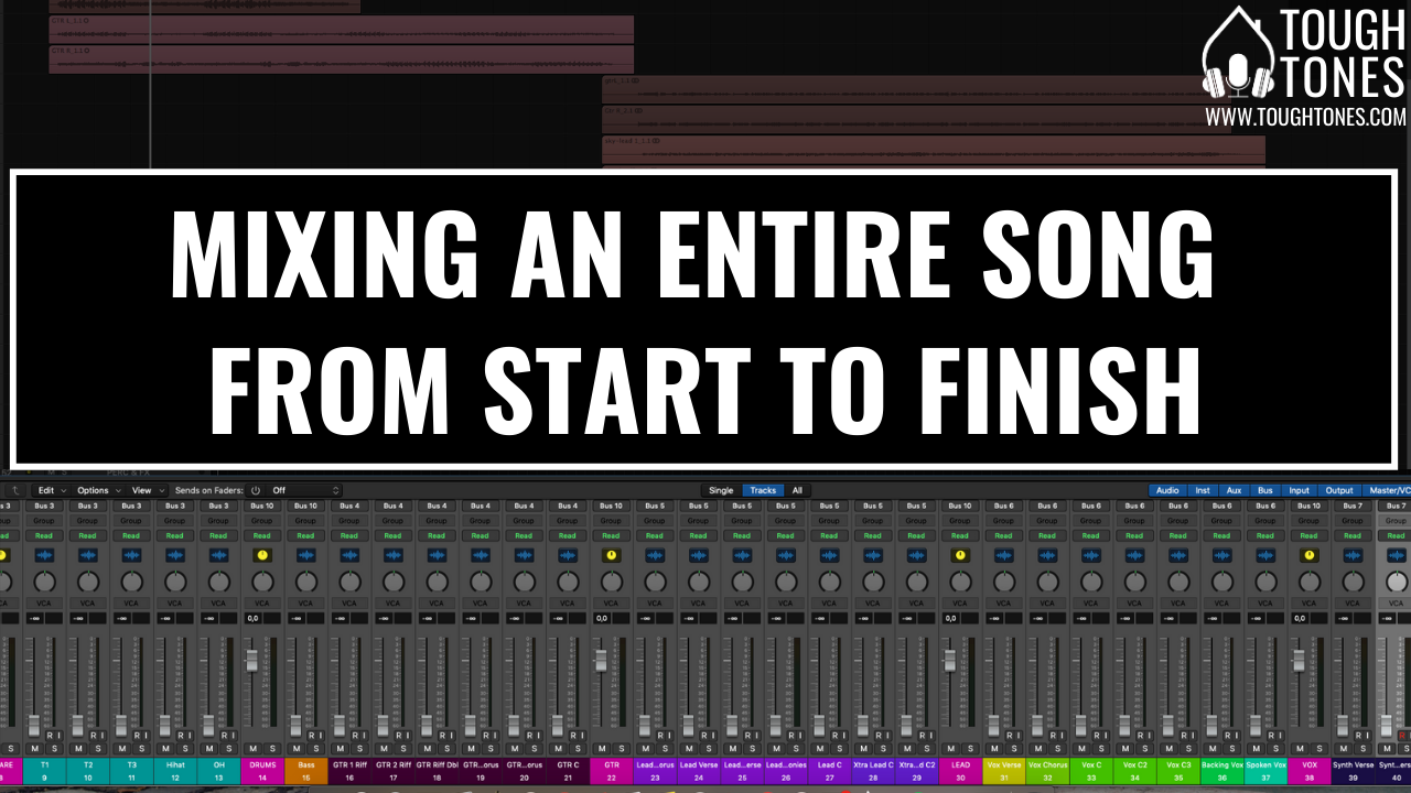 Mixing an entire song from start to finish