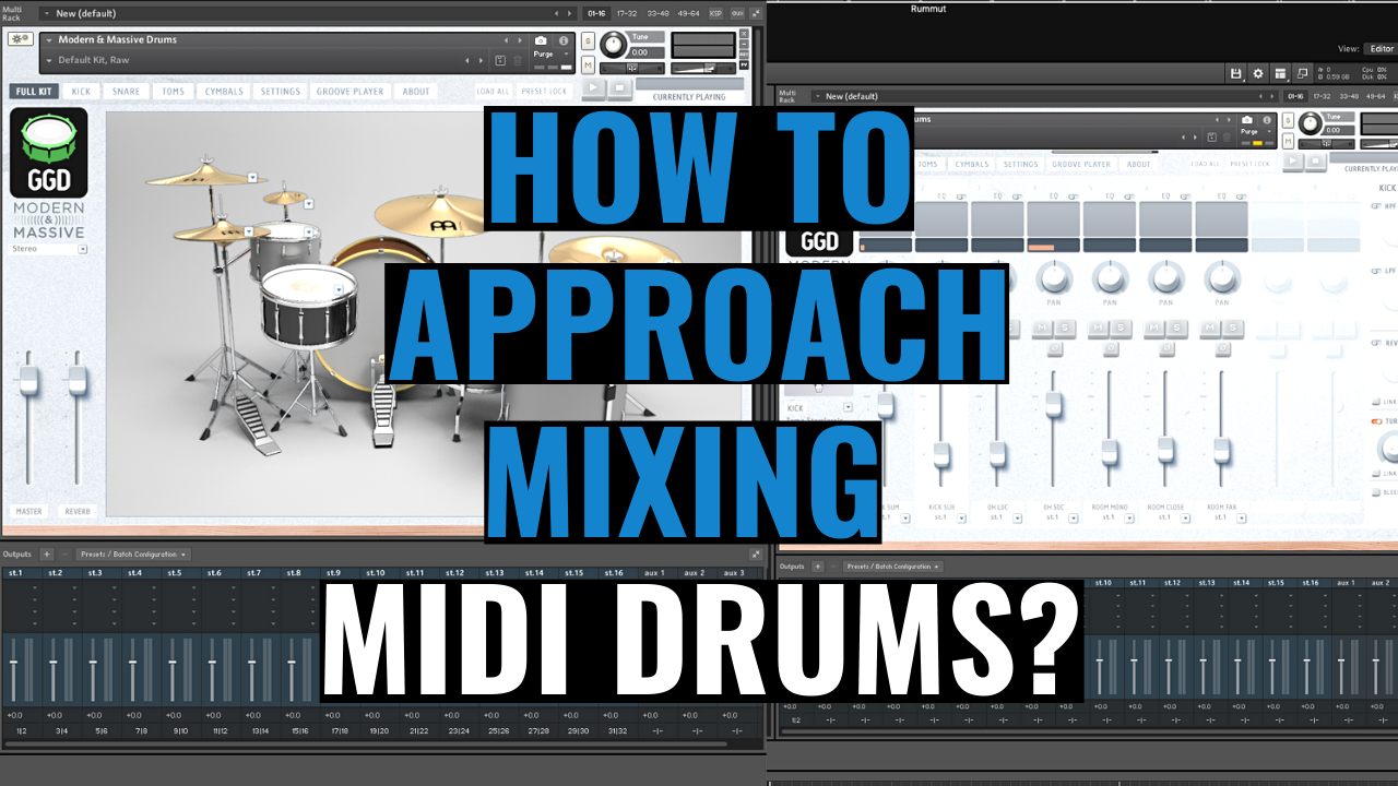 How to approach mixing midi drums