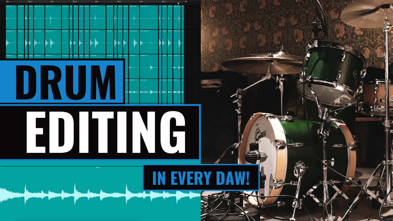 editing drums in every daw